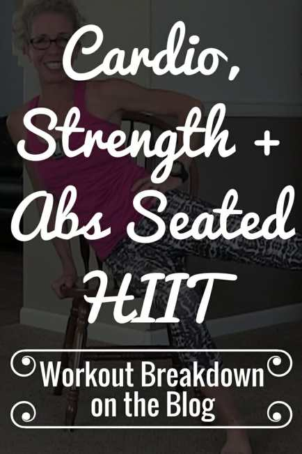 SEATED Sweatfest Cardio Strength and Abs HIIT Workout - Exercise Breakdown from Pahla B Fitness