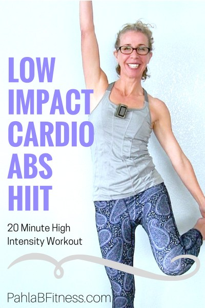 LOW IMPACT Cardio Abs HIIT _ 20 Minute Waist Slimming Workout without Jumping - Full Length Home Workout from Pahla B Fitness