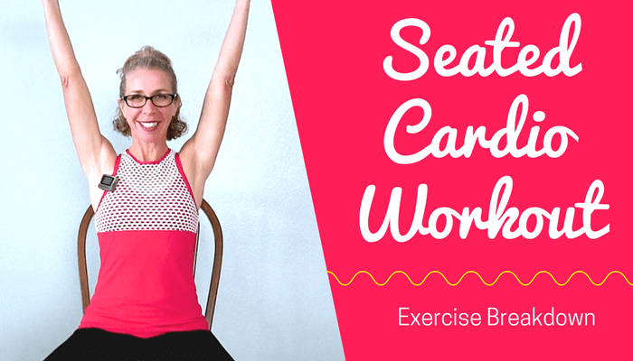 SEATED SWEAT | Effective 20 Minute NO IMPACT All CARDIO Fat Burning HIIT Workout in a CHAIR BLOG Featured Photo