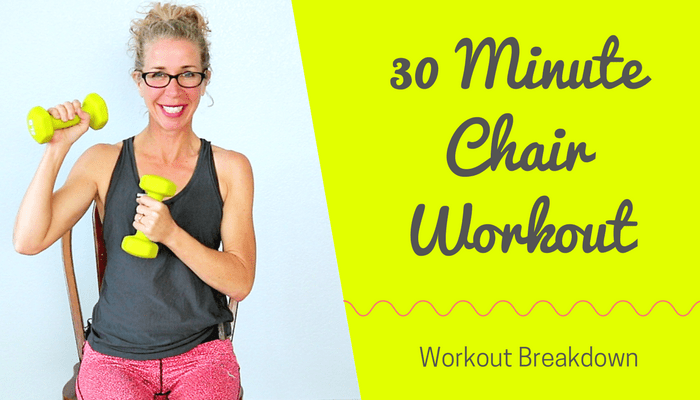 30 Minute CHAIR Workout _ SEATED Athletic Total Body Knee-Friendly Routine with CARDIO + STRENGTH - BLOG Featured Photo