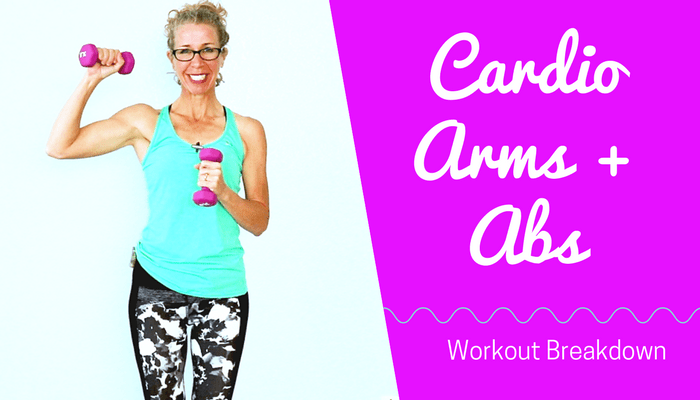 20 Minute All Standing NO JUMPING Cardio Arms + Abs HIIT Workout w Light Dumbbells _ Cardio Toning - BLOG Featured Photo