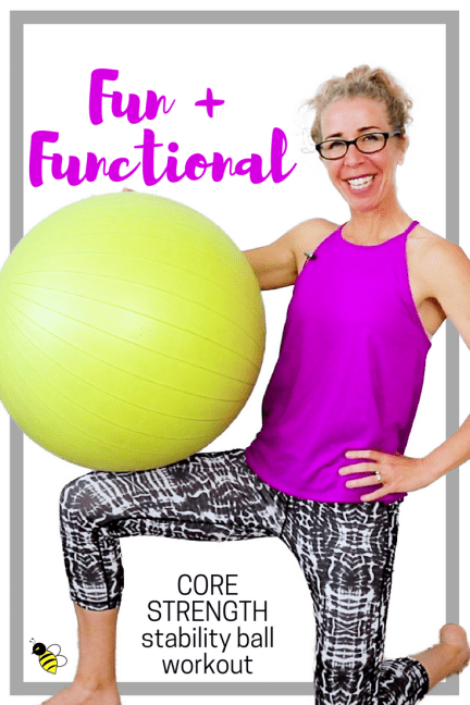 FUN + FUNCTIONAL _ 12 Minute STABILITY BALL Strength Workout for a Flat Belly + Strong Core FREE Home Workout on YouTube from Pahla B Fitness