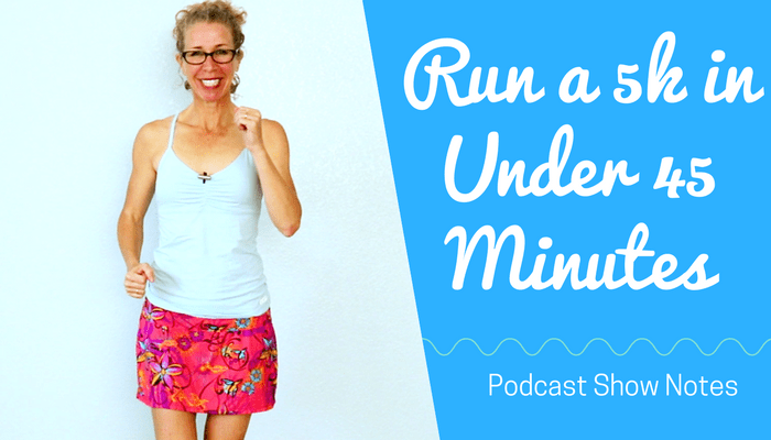 How to RUN a 5k in UNDER 45 Minutes (with Warm Up) _ One Hour INDOOR RUNNING or JOGGING Workout - BLOG Featured Photo