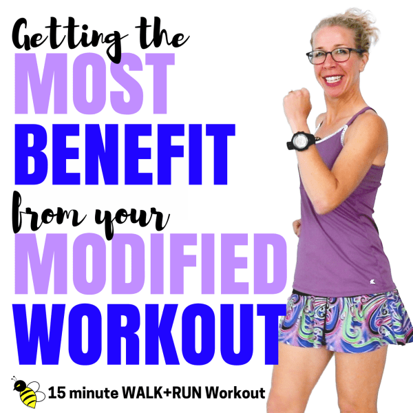 15 Minute (2000 Steps) Indoor WALK + RUN _ Getting the MOST BENEFIT from Your Modified Workout Let's RUN Podcast Cover