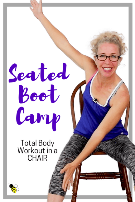 SEATED BOOT CAMP _ 10 Minute STACKABLE Tough + Sweaty Bodyweight CARDIO + STRENGTH in a CHAIR FREE Home Workout on YouTube from Pahla B Fitness