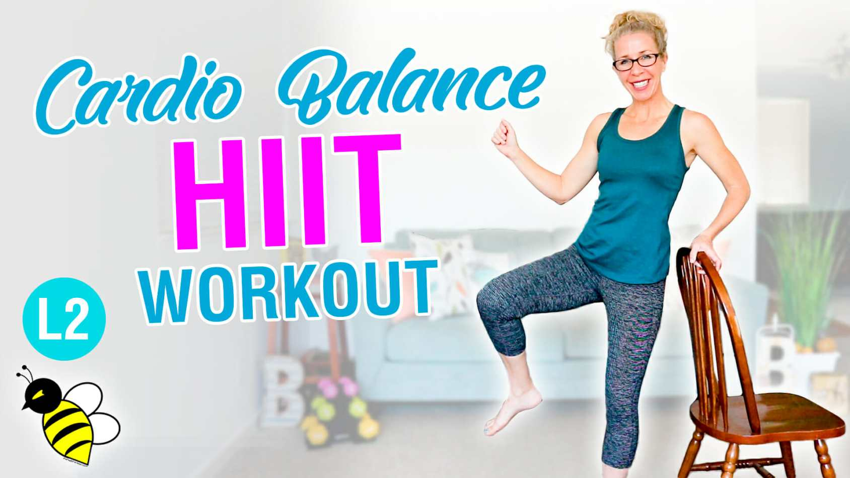 Cardio Balance HIIT empowering 10 minute home workout