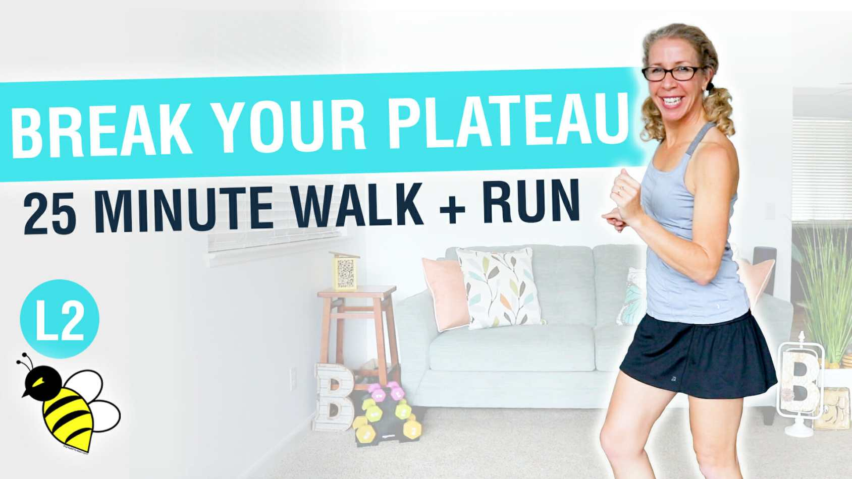 How to Break Your WEIGHT LOSS Plateau 25 minute WALK + RUN workout