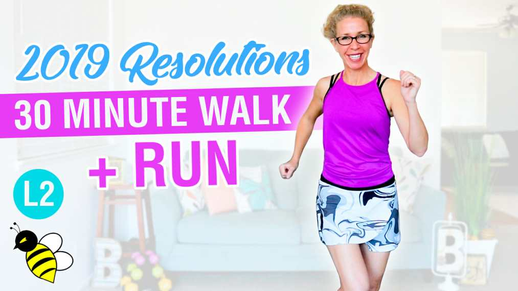 My 2019 Resolutions 30 minute WALK + RUN with 1-minute intervals