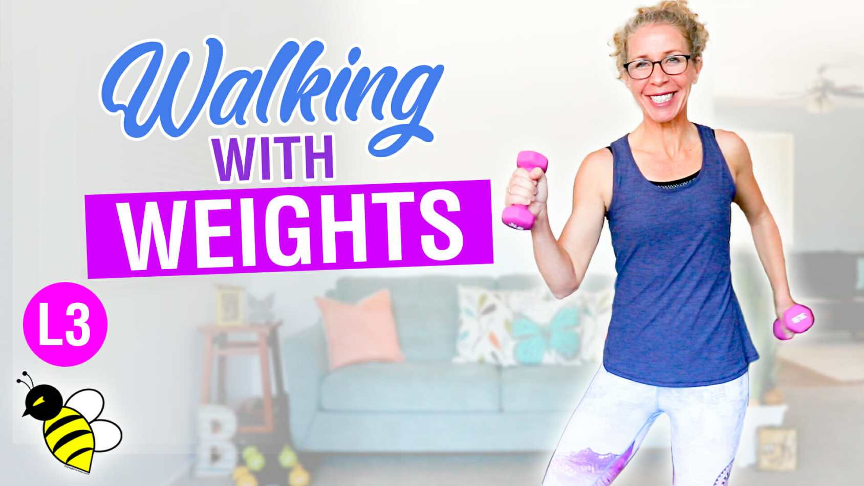WALKING with WEIGHTS 40 minute osteoporosis prevention workout