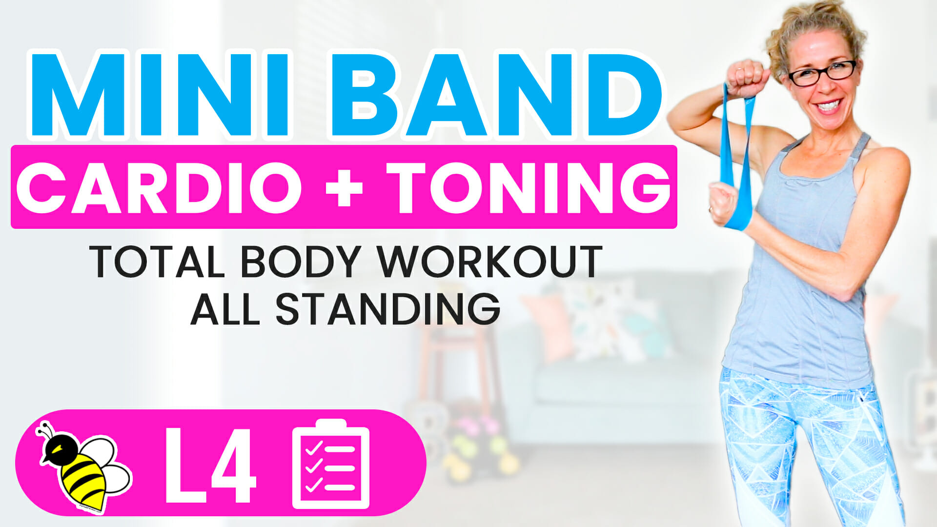 MINI BAND Sammich 55 minute total body CARDIO + TONING workout