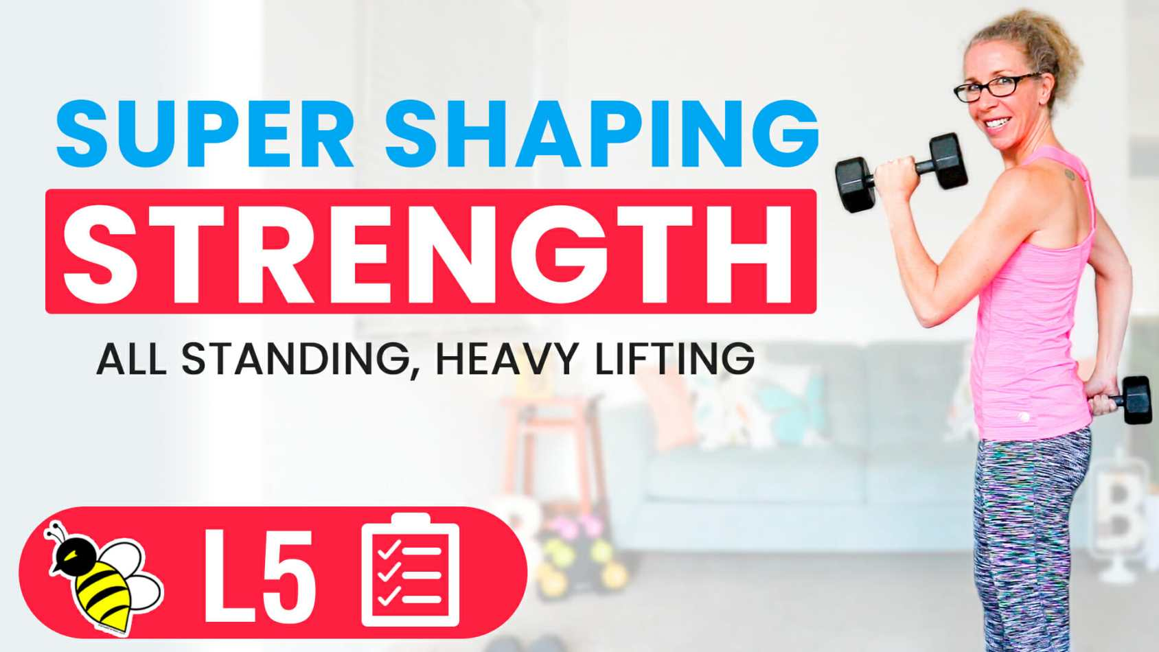 SUPER SHAPING 45 minute STRENGTH workout for women