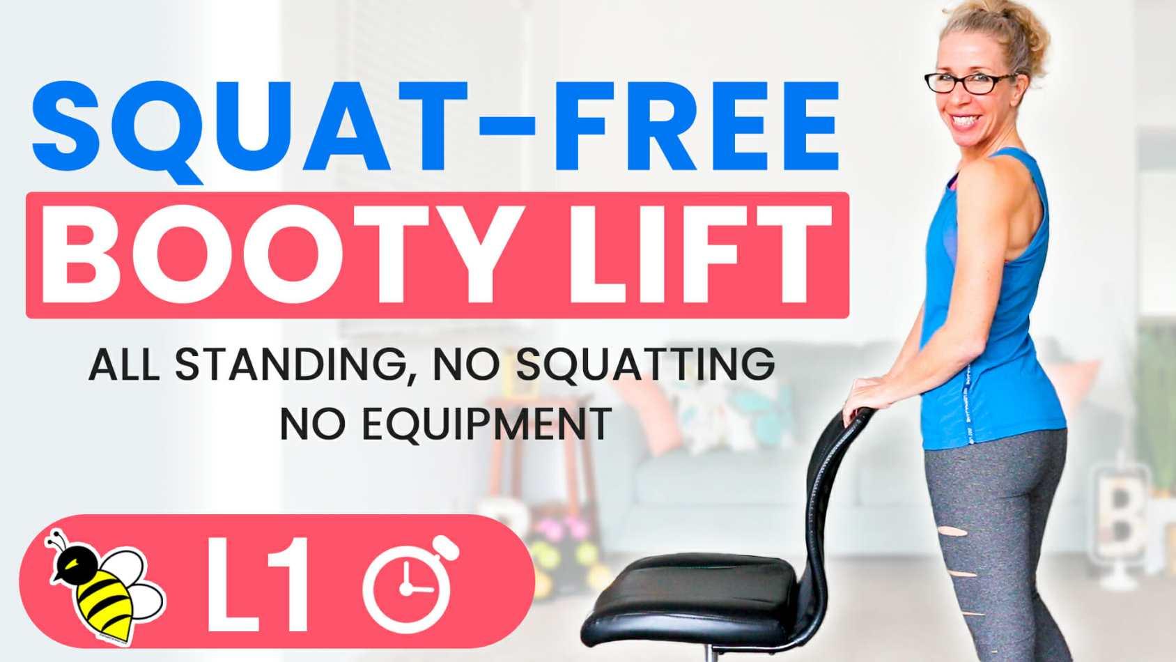 Squat-Free BOOTY LIFT 5-minute Friday Fix