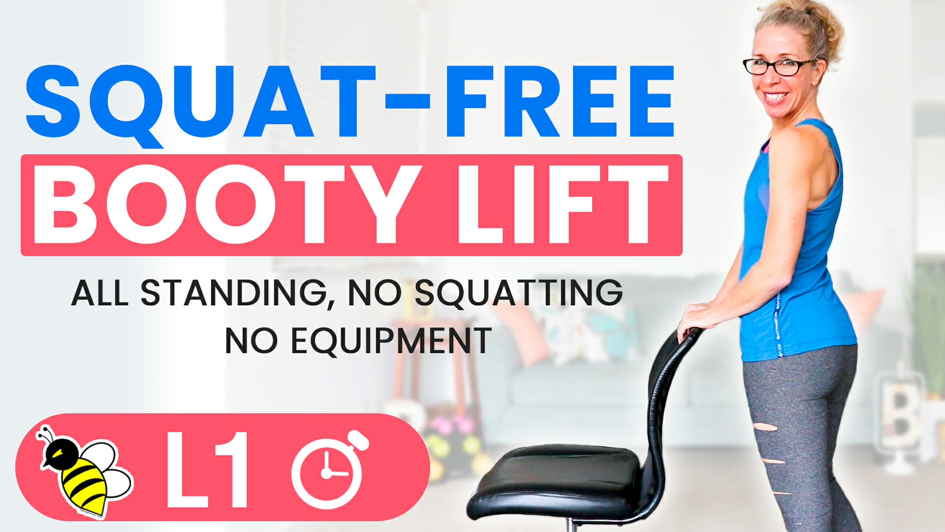 Squat-Free BOOTY LIFT 5-minute Friday Fix