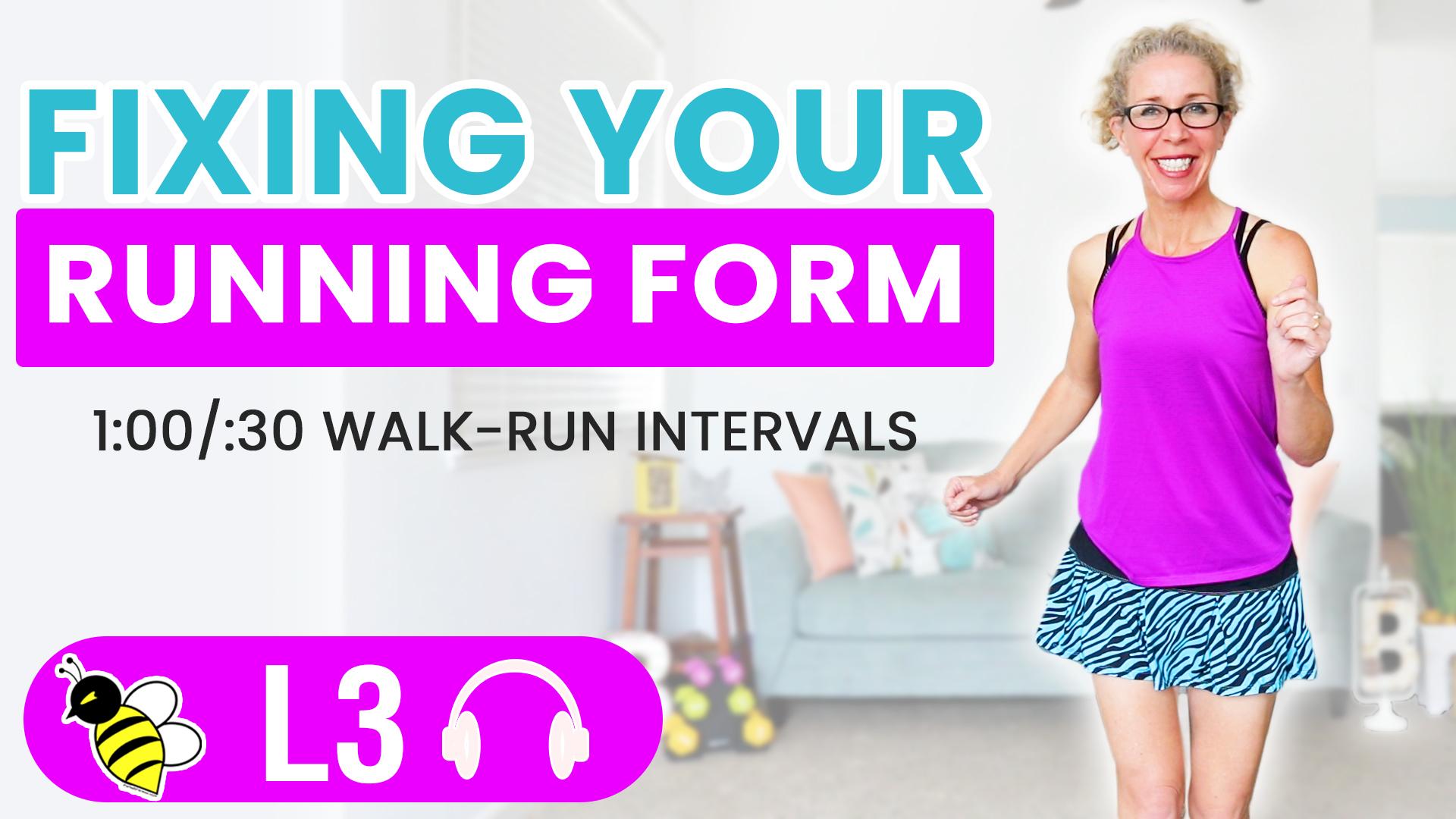 Fixing your RUNNING FORM 30 Minute WALK + RUN