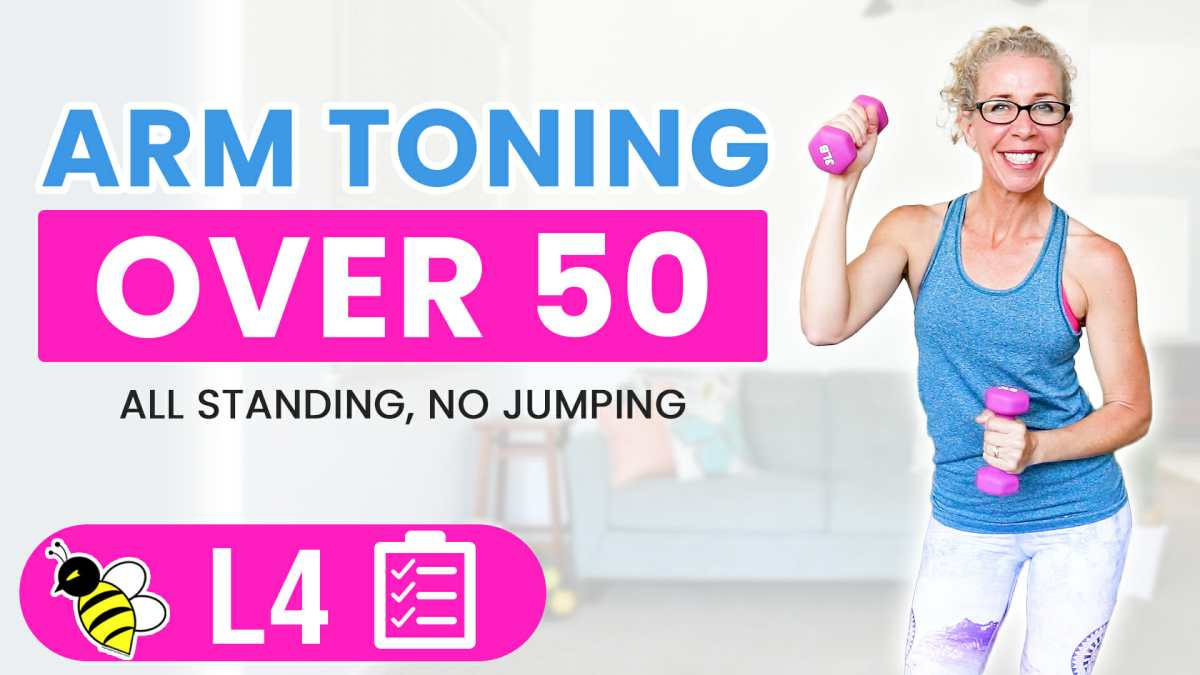 30 Minute Cardio ARM TONING Workout for Women Over 50