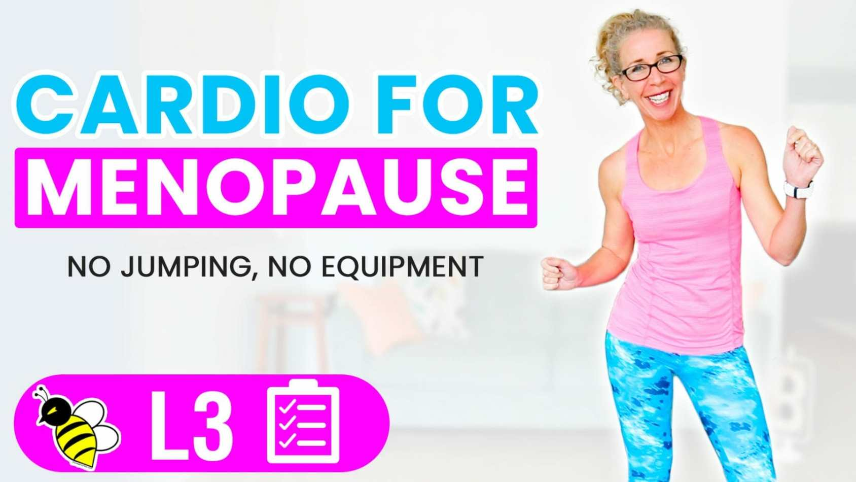 25 Minute LOW IMPACT Cardio for Menopause Workout