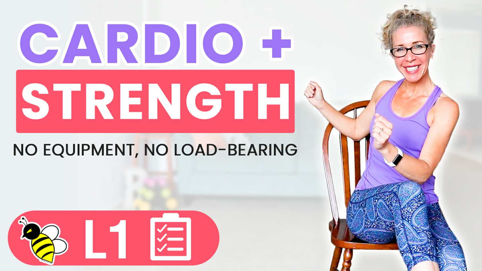 35 Minute SEATED Bodyweight Cardio + Strength BURN 250 Calories