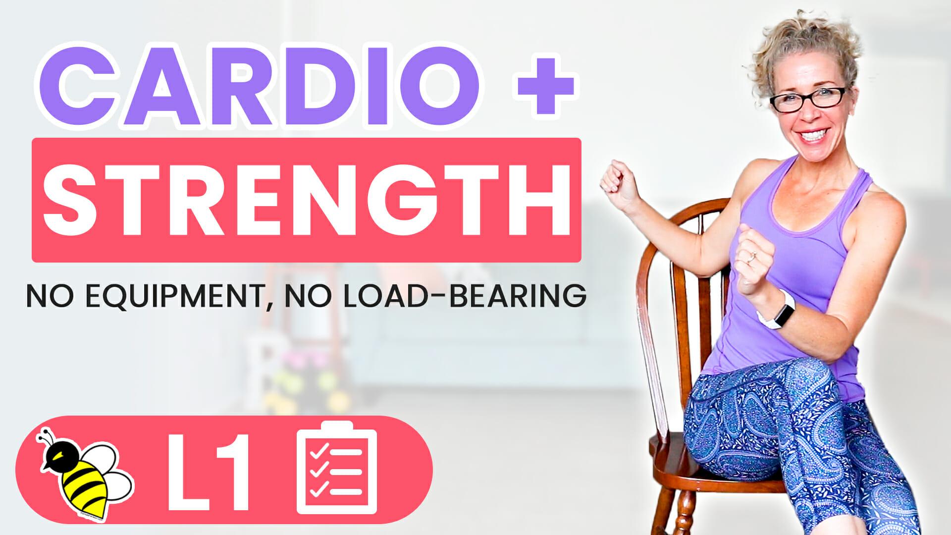 35 Minute SEATED Bodyweight Cardio + Strength BURN 250 Calories