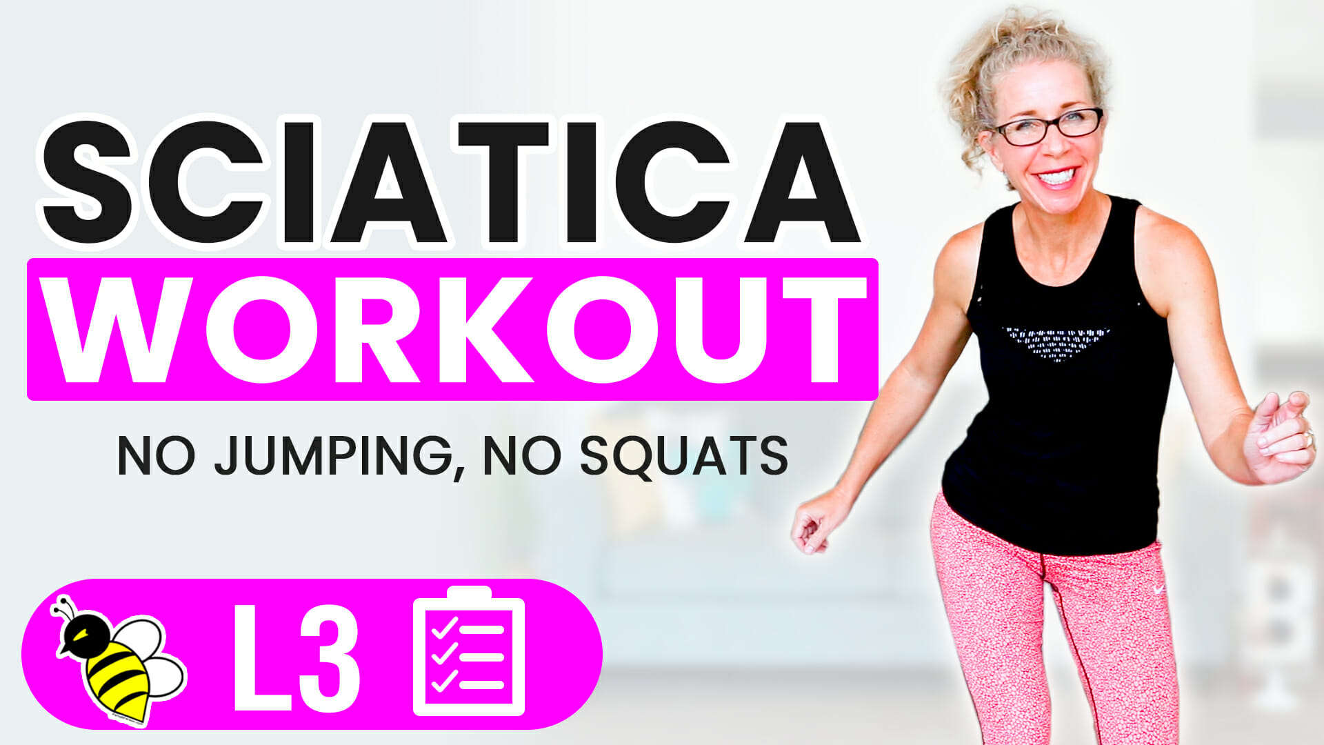 35 Minute Low Impact CARDIO + CORE Workout for Sciatica