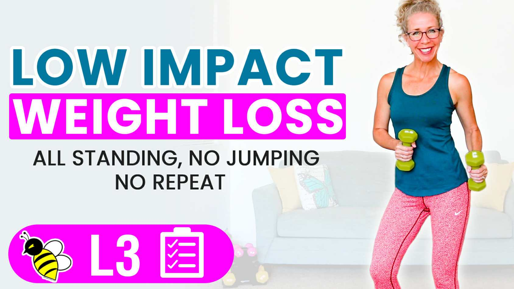 LOW IMPACT MetCon 30 Minute Cardio + Weights Workout for WEIGHT LOSS