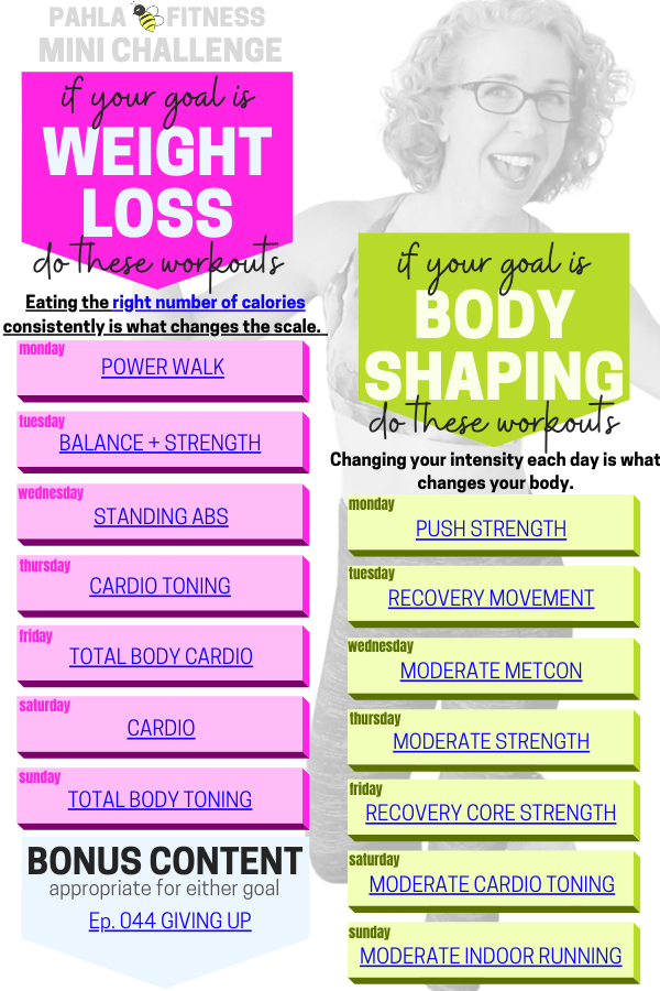 The Mini Challenge is your free weekly workout schedule, designed for women over 50 who want to get their fitness goals.