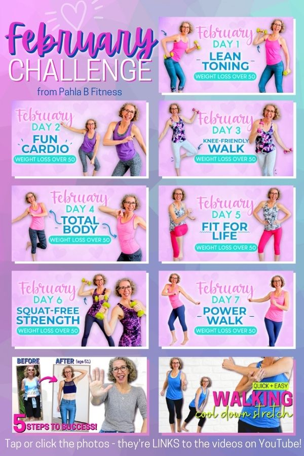 The MONTHLY CHALLENGE is 7 days in a row of new workout videos that are DESIGNED to go together in a program that meets your fitness goals!