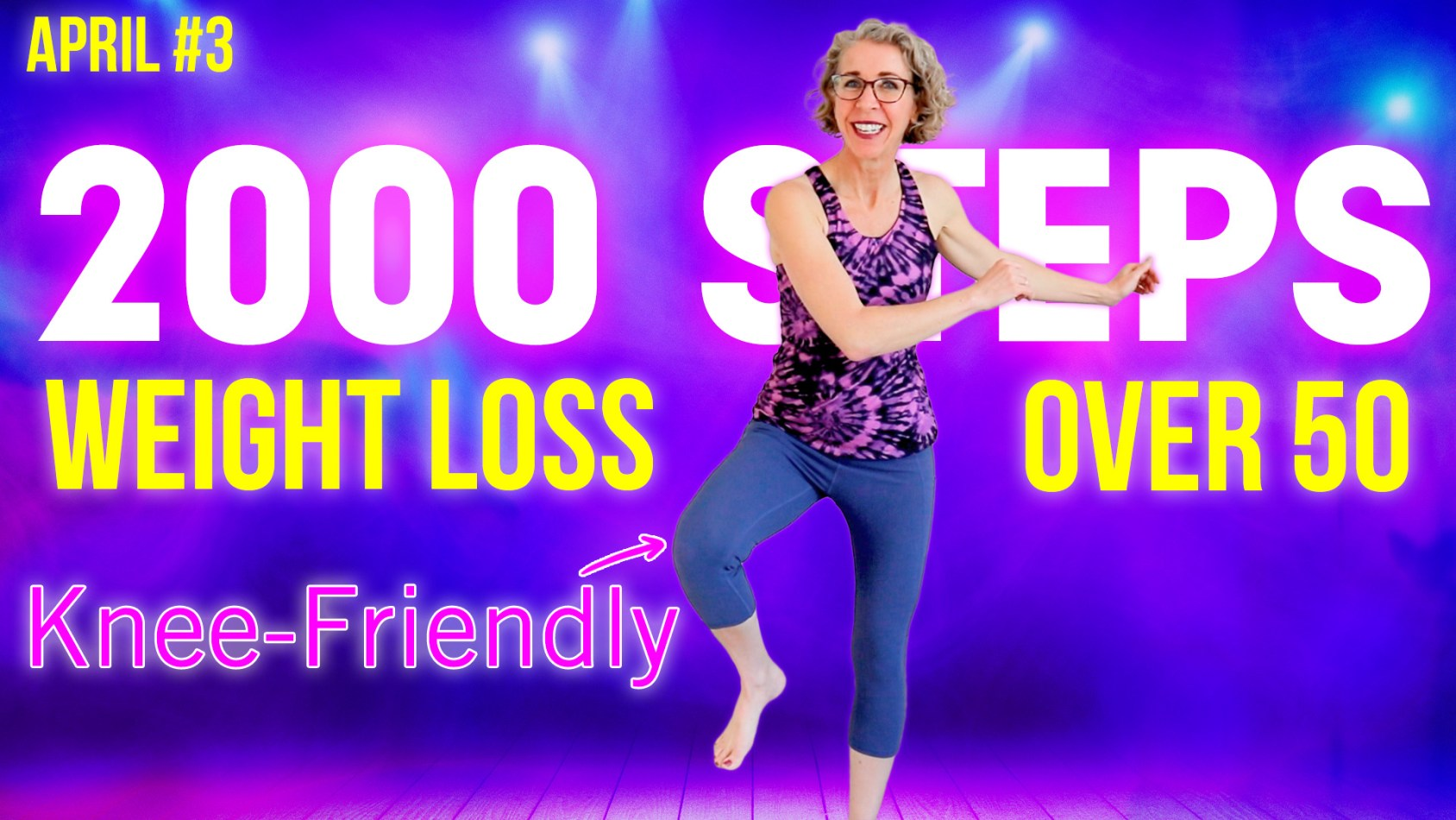 Knee-Friendly: NO Squats or Lunges! POWER WALK Workout over 50 ???? April Day 3