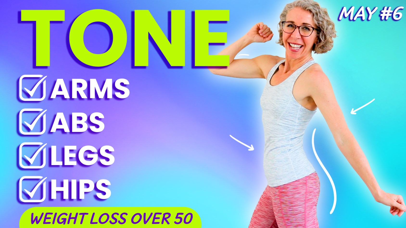 KNEE-FRIENDLY, No Equipment TONING Workout for Women over 50 ???? MAY 6
