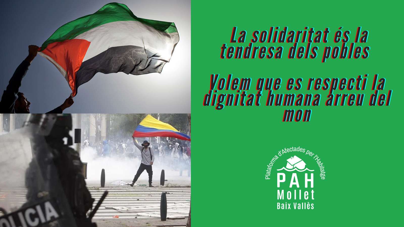 En este momento estás viendo Apoyo absoluto a Palestina y Colombia