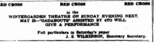 Red Cross benefit Concert advert May 1943 (Townsville Daily Bulletin Thurs 20 May 1943)