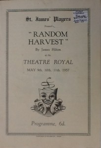 "St James Players ""Random Harvest"" programme 1957"