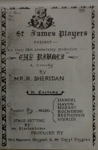 "St James Players ""The Rivals"" programme 1962"