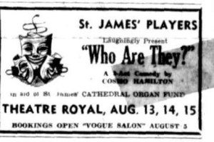 """Who Are They"" advert Townsville Daily Bulletin Mon 3 Aug 1953"