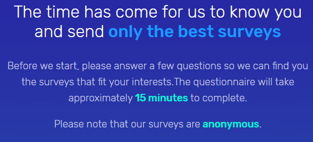 survey time intro questions