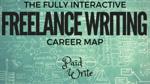 interactive freelance writing career map