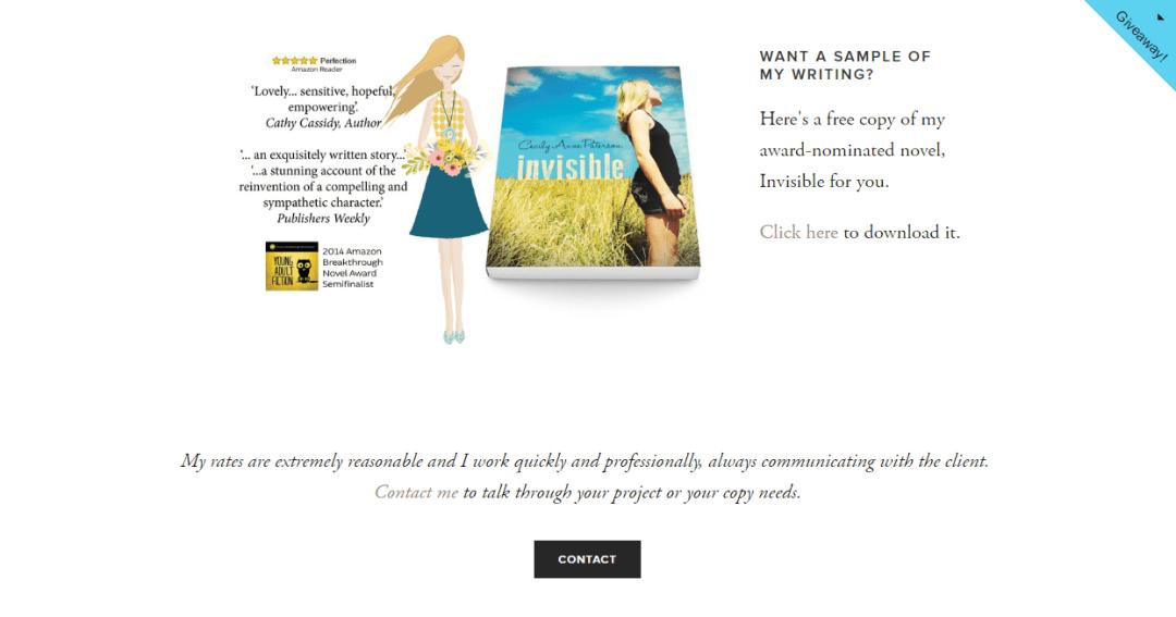 freelance writer website inspiration