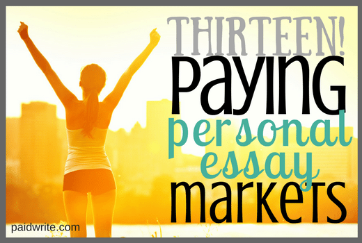 paying personal essay markets for writers