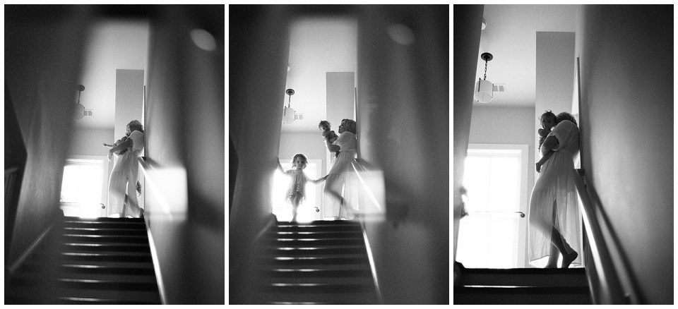Lifestyle Photography Mother and Children Black and White Film