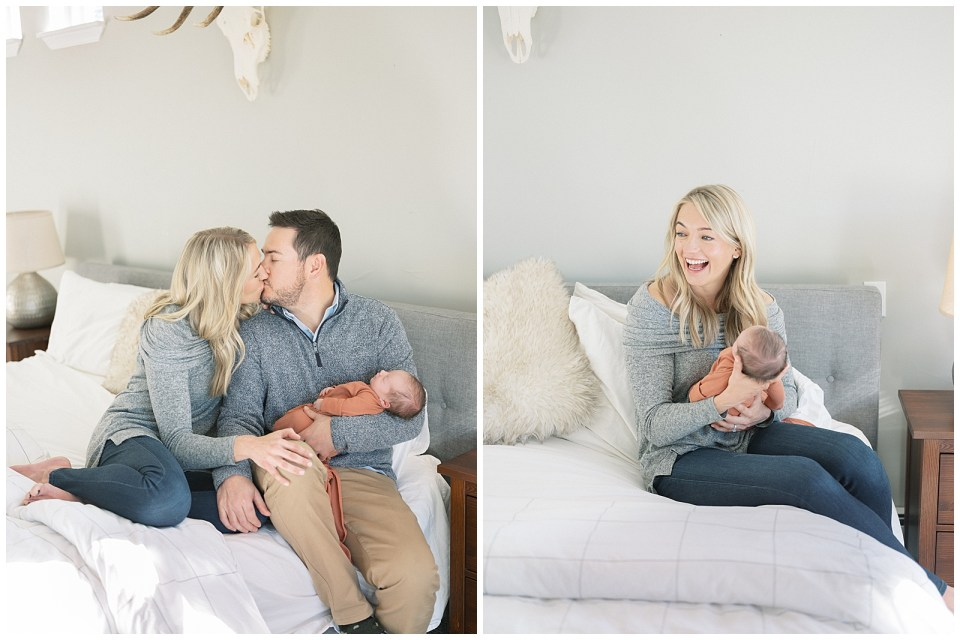 Newborn session with both parents
