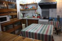 The kitchen, open plan and clean