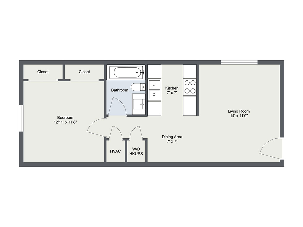 Paige Place, 1 Bedroom Floorplan