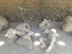 Casts of bodies at Pompeii
