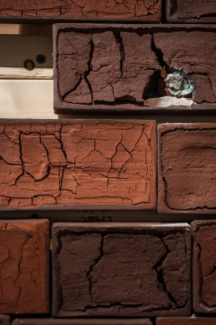 Detail of Brick Tower from the installation. Bricks were constructed using soil from my hometown in Frog Jump, TN