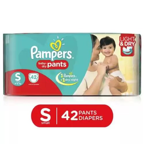 Pampers Baby Dry Pants Diaper (S, 4-8kg, 42pcs)
