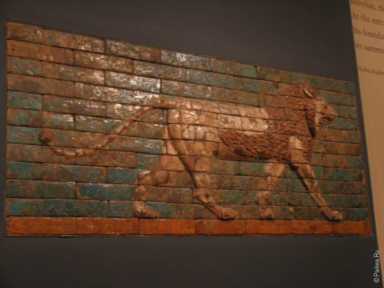 нью-йорк плиточная мозаика - лев
