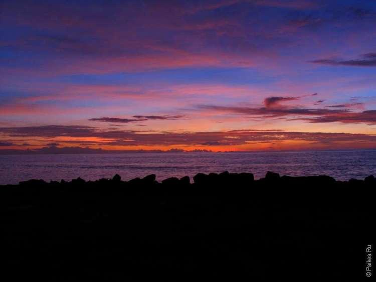 Красивые фото с Мальдив на закате