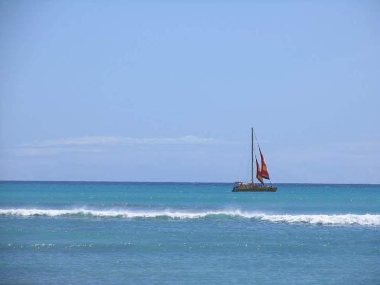 яхта на гавайях, оаху, гонолулу