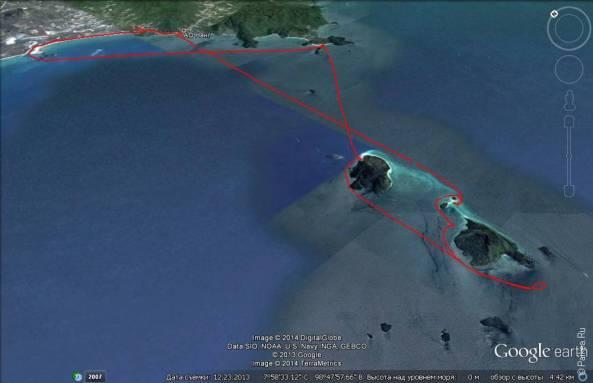 Экскурсия 4 острова на карте