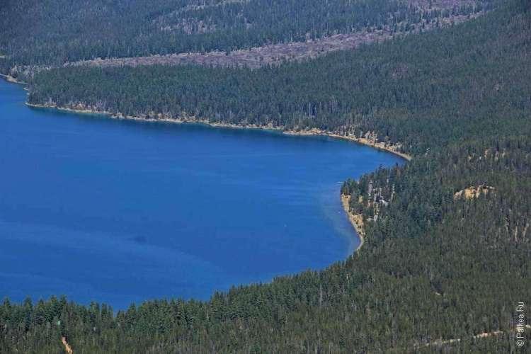 Извилистые берега озера Паулина