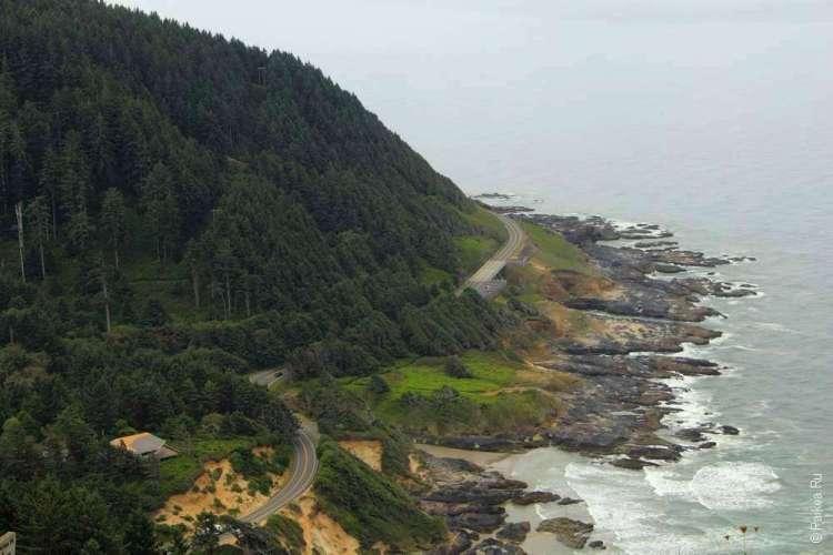 Трасса 101 вдоль берега океана